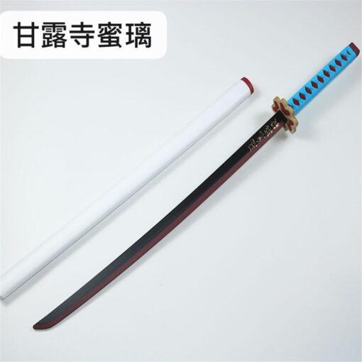 Kimetsu no Yaiba Sword Weapon Demon Slayer Agatsuma Zenitsu Cosplay Sword 1 1 Anime Ninja Knife 4