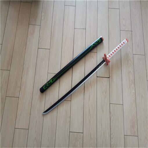 Kimetsu no Yaiba Sword Weapon Demon Slayer Agatsuma Zenitsu Cosplay Sword 1 1 Anime Ninja Knife 5