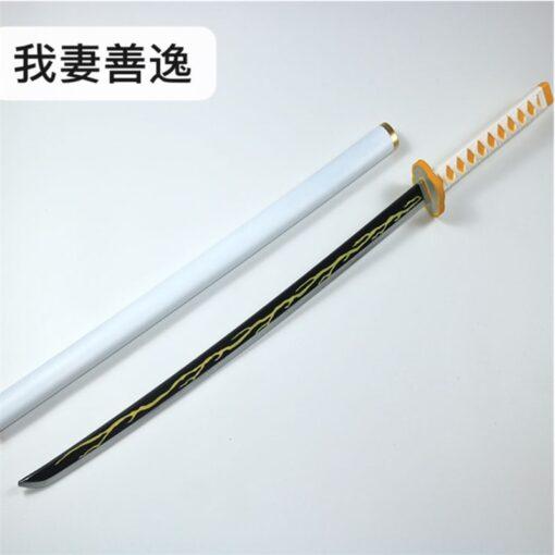 Kimetsu no Yaiba Sword Weapon Demon Slayer Agatsuma Zenitsu Cosplay Sword 1 1 Anime Ninja Knife
