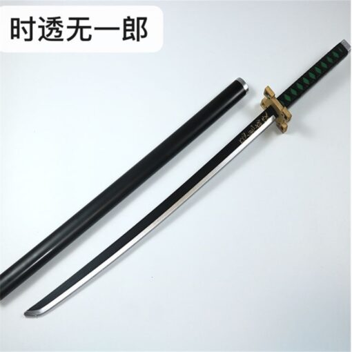 Kimetsu no Yaiba Sword Weapon Demon Slayer Satoman Tanjiro Cosplay Sword 1 1 Anime Ninja Knife 4