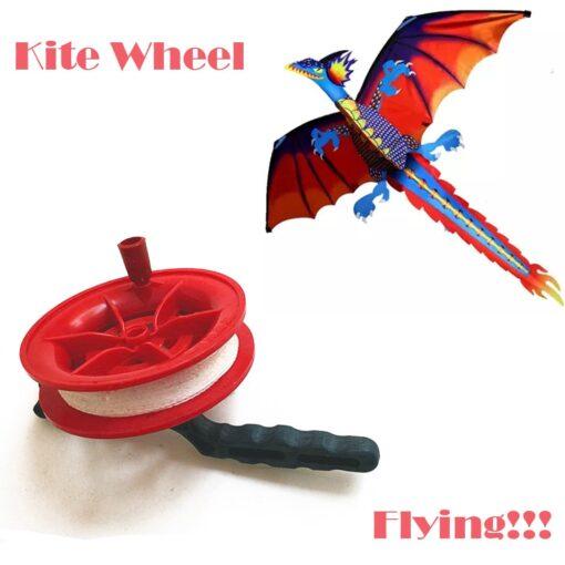 Kite Wheel line length 100M 50M Twisted String Line Red Wheel Kite Reel Winder Flying Toys