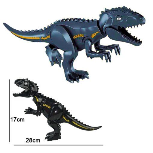 Kitoz Big Size Jurassic Dinosaur World Tyrannosaurus Rex IndoRaptor Triceratops Figure Building Block Toy 3
