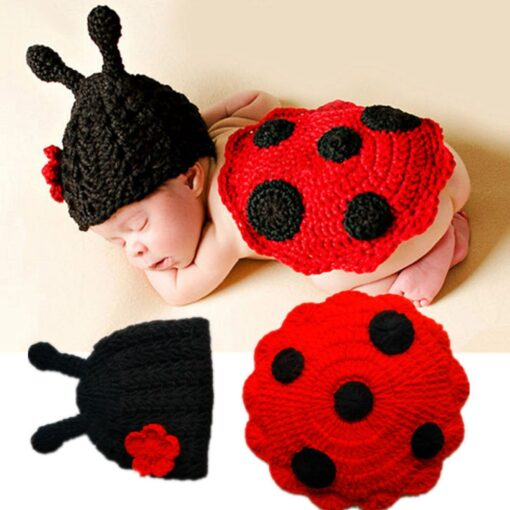 Knit Crochet Hats Newborn Baby Cute Insects Clothes Costume Photo Photography Props Lively Hats Set gorros 3