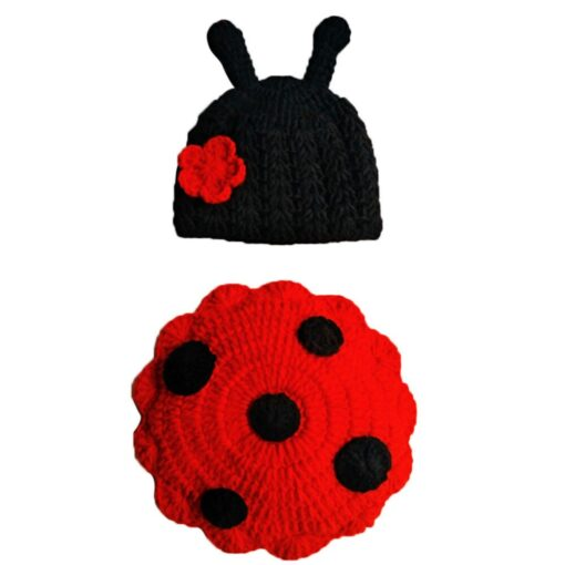 Knit Crochet Hats Newborn Baby Cute Insects Clothes Costume Photo Photography Props Lively Hats Set gorros 5