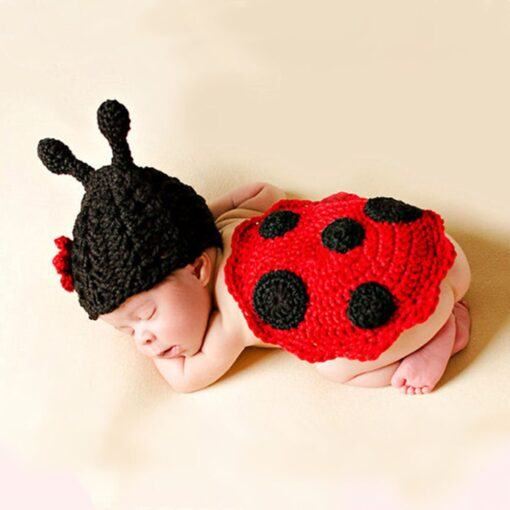 Knit Crochet Hats Newborn Baby Cute Insects Clothes Costume Photo Photography Props Lively Hats Set gorros