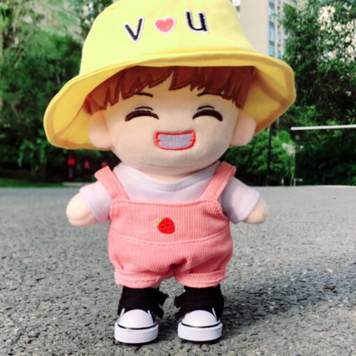 Korea Kawaii Plush Dolls Toy Cartoon Stuffed Doll With Clothes PP Cotton Cute Soft Dolls Collection 4