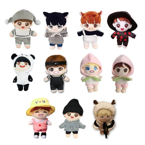 Korea Kawaii Plush Dolls Toy Cartoon Stuffed Doll With Clothes PP Cotton Cute Soft Dolls Collection
