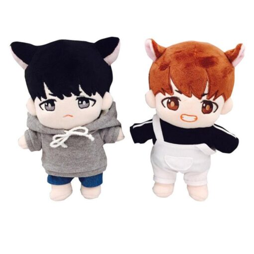 Korea Kawaii Plush Dolls Toy Stuffed Doll With Clothes Cute PP Cotton Soft Dolls Collection Fans 2