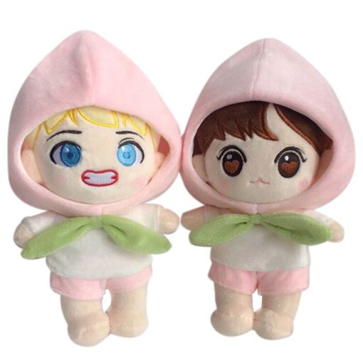 Korea Kawaii Plush Dolls Toy Stuffed Doll With Clothes Cute PP Cotton Soft Dolls Collection Fans 3