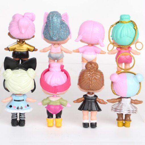 L O L SURPRISE 8pcs set Lol Surprise Doll Ornaments Toy Confetti Glitter Series Action Figures 1