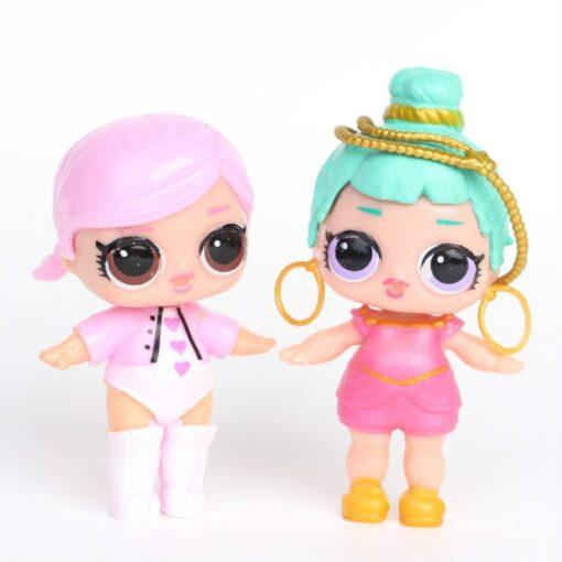 L O L SURPRISE 8pcs set Lol Surprise Doll Ornaments Toy Confetti Glitter Series Action Figures 3