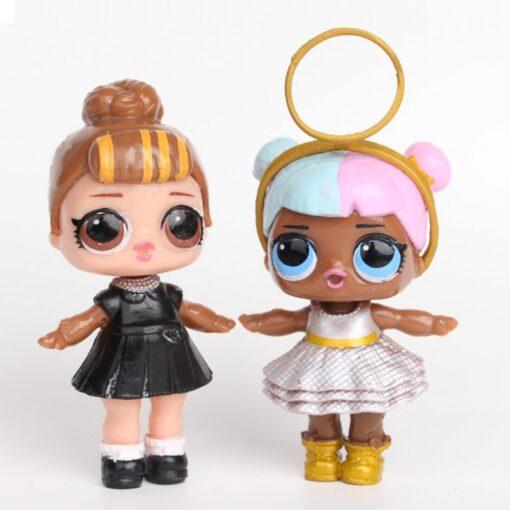 L O L SURPRISE 8pcs set Lol Surprise Doll Ornaments Toy Confetti Glitter Series Action Figures 4
