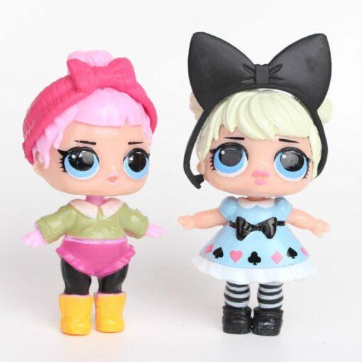 L O L SURPRISE 8pcs set Lol Surprise Doll Ornaments Toy Confetti Glitter Series Action Figures 5