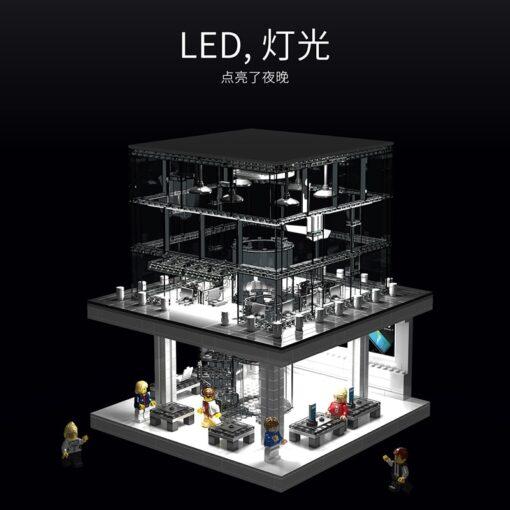 LED Light Toy Expert Street view Apple Store Building Blocks Bricks Sets Model Classic Phone Compatible 1