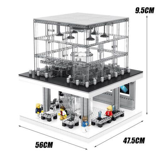 LED Light Toy Expert Street view Apple Store Building Blocks Bricks Sets Model Classic Phone Compatible 2