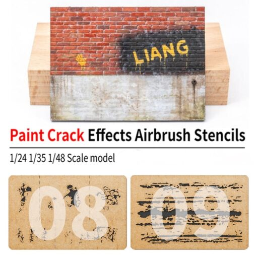 LIANG 0009 Chipping Effects Airbrush Stencil Tool for 1 24 1 35 1 48 Scale Model 1