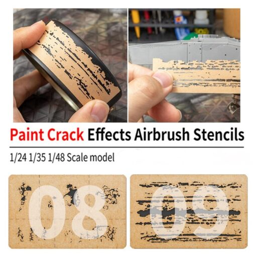 LIANG 0009 Chipping Effects Airbrush Stencil Tool for 1 24 1 35 1 48 Scale Model 3