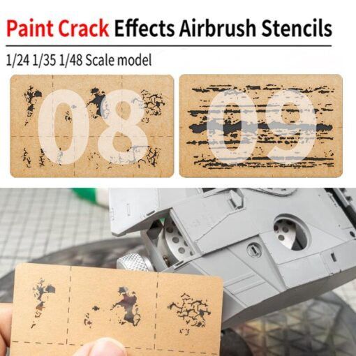 LIANG 0009 Chipping Effects Airbrush Stencil Tool for 1 24 1 35 1 48 Scale Model 4