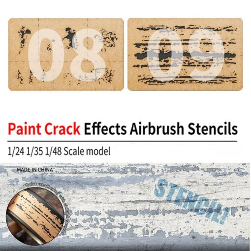 LIANG 0009 Chipping Effects Airbrush Stencil Tool for 1 24 1 35 1 48 Scale Model 5