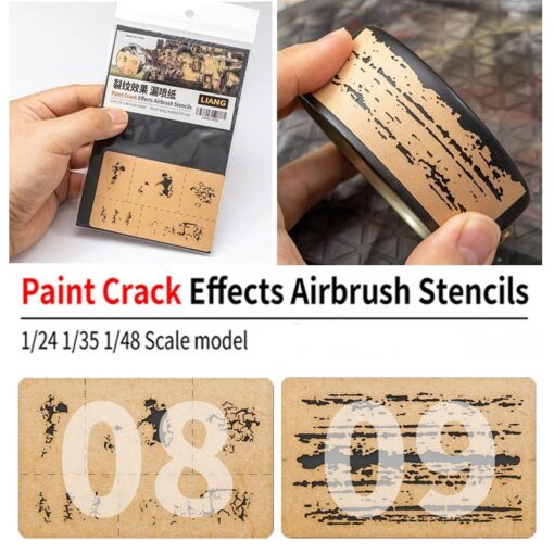 LIANG 0009 Chipping Effects Airbrush Stencil Tool for 1 24 1 35 1 48 Scale Model