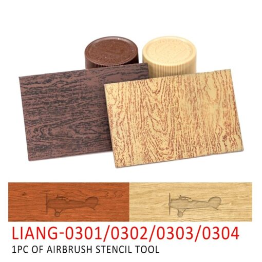 LIANG 0301 0302 PE Airbrush Stencil Wood Texture Tools for 1 35 1 48 1 72 3