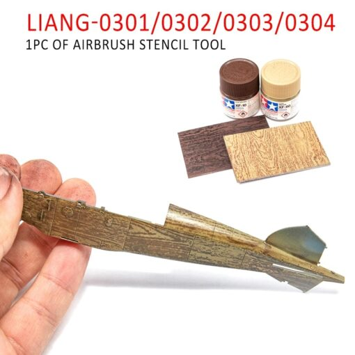 LIANG 0301 0302 PE Airbrush Stencil Wood Texture Tools for 1 35 1 48 1 72 4