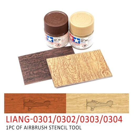LIANG 0301 0302 PE Airbrush Stencil Wood Texture Tools for 1 35 1 48 1 72