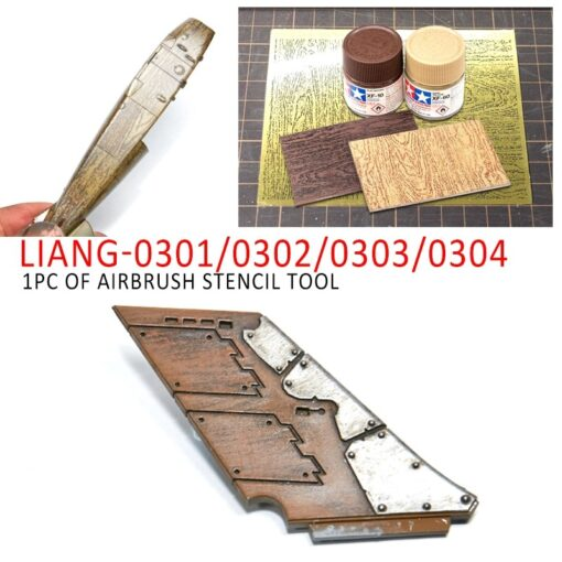 LIANG 0301 0302 PE Airbrush Stencil Wood Texture Tools for 1 35 1 48 1 72 6