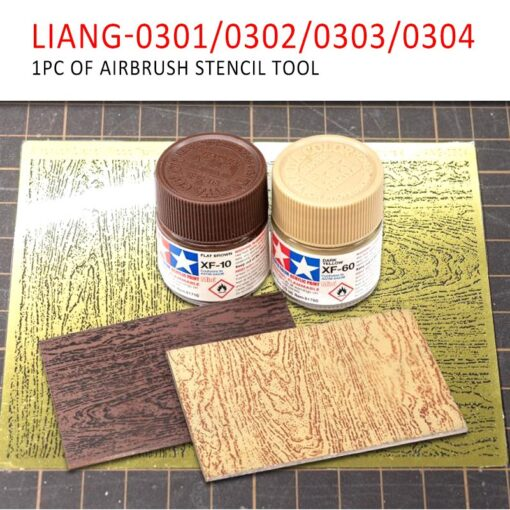 LIANG 0301 0302 PE Airbrush Stencil Wood Texture Tools for 1 35 1 48 1 72 9