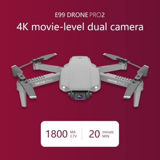 LSKJ E99 Pro2 RC Mini Drone 4K HD Dual Camera WIFI FPV Professional Aerial Photography Helicopter 1
