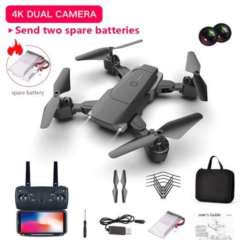 LSRC 2020 E68pro Mini DroneWiFi 2 4G RC Drone 4K HD Dual Camera Quadcopter FPV Foldable 1