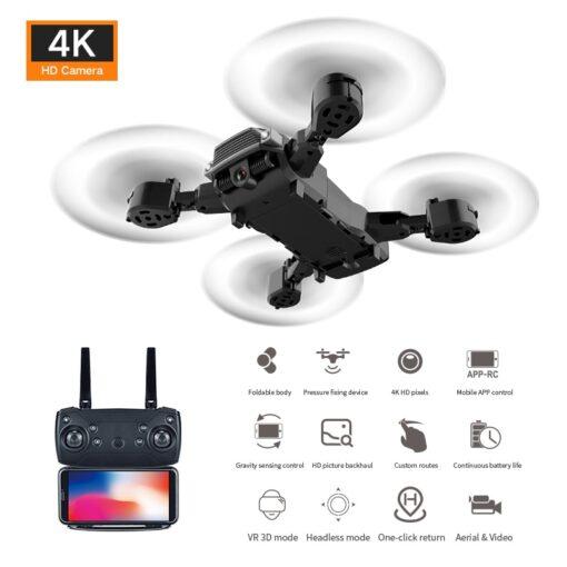 LSRC 2020 E68pro Mini DroneWiFi 2 4G RC Drone 4K HD Dual Camera Quadcopter FPV Foldable 4