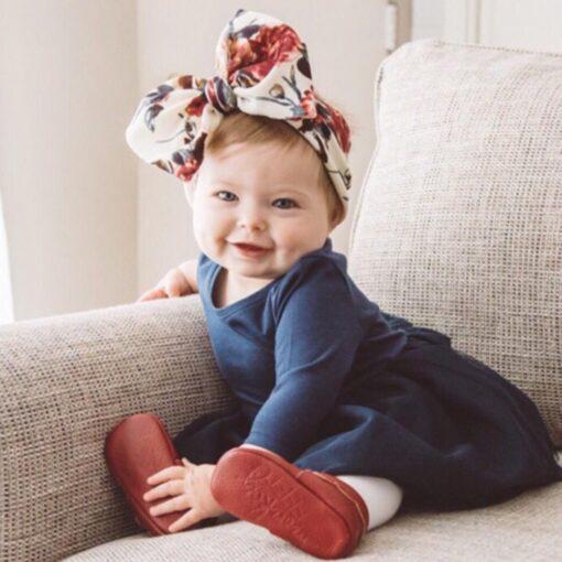 Large Bow Wide Headband DIY Handmade Hair Bowknot Print Hair Bands Children Kids Head Wraps Baby 1