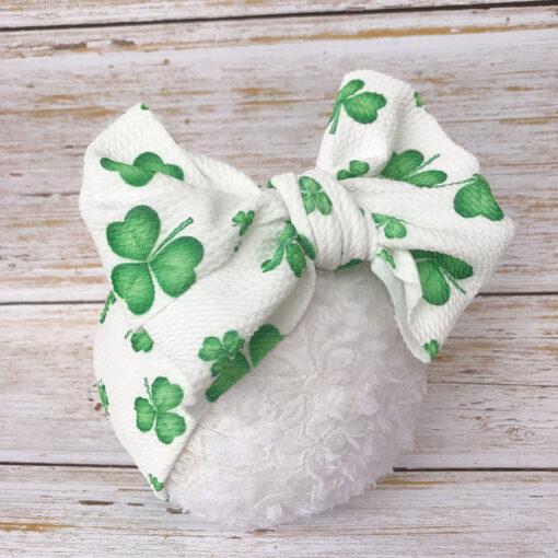 Large Bow Wide Headband DIY Handmade Hair Bowknot Print Hair Bands Children Kids Head Wraps Baby 3
