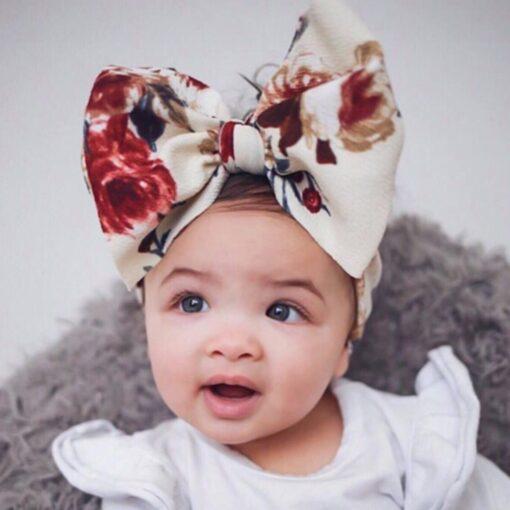 Large Bow Wide Headband DIY Handmade Hair Bowknot Print Hair Bands Children Kids Head Wraps Baby