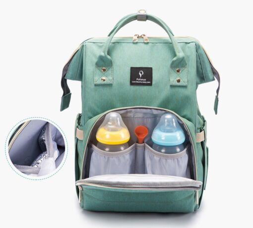 Large Capacity Diaper Bag Backpack Waterproof Maternity Bag Baby Diaper Bags With USB Interface Mummy Travel 3