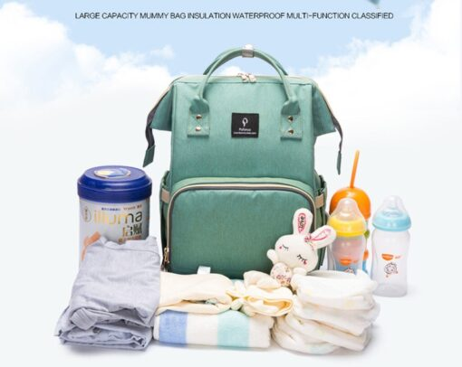 Large Capacity Diaper Bag Backpack Waterproof Maternity Bag Baby Diaper Bags With USB Interface Mummy Travel 5