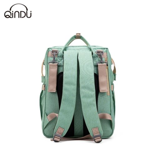 Large Capacity Diaper Bag Mummy Birthing Backpack Travel Portable Shoulder Multifunction Fold Bed Bags Waterproof Stylish 4