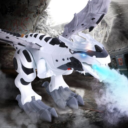 Large Spray Mechanical Dinosaurs With Wing Cartoon Electronic Walking Animal Model Dinosaurio juguete Robot Pterosaurs Kids 1