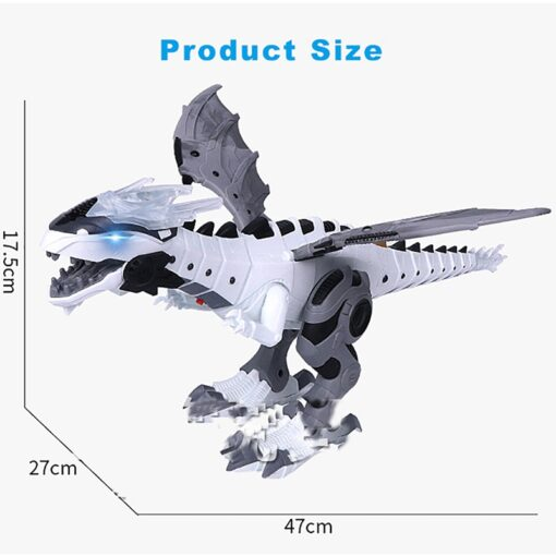 Large Spray Mechanical Dinosaurs With Wing Cartoon Electronic Walking Animal Model Dinosaurio juguete Robot Pterosaurs Kids 4