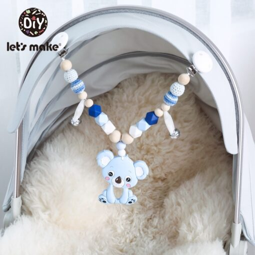 Let S Make 1Pc Silicone Baby Teether Toddler Toys Diy Stroller Accessories For Pacifier Chain Owl 3