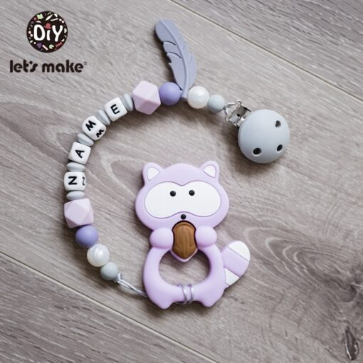 Let S Make 1Pc Silicone Baby Teether Toddler Toys Diy Stroller Accessories For Pacifier Chain Owl 4
