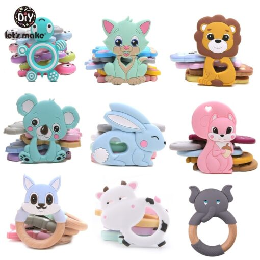 Let S Make 1Pc Silicone Baby Teether Toddler Toys Diy Stroller Accessories For Pacifier Chain Owl