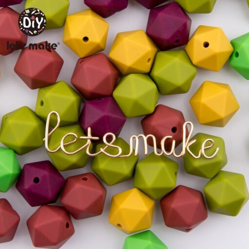 Let s Make 10pc 14mm Silicone Beads Hexagon Bpa Free Silicone Teether Diy Teething Toy Baby 5