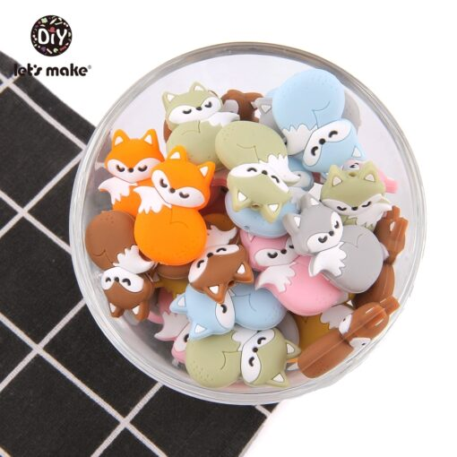 Let s Make 5pc Candy Color Teether Silicone Beads Star Shape For Pacifier Clips DIY Cute 2