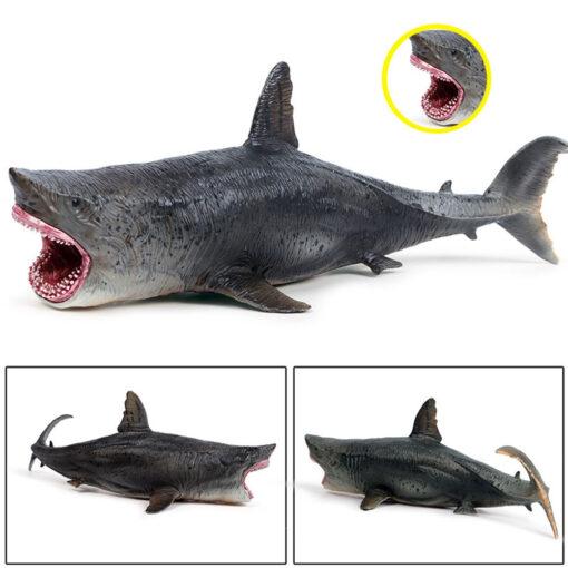 Lifelike Shark Toy Marine Life Animal Model Toy Giant Tooth Shark Blue Whale Animal Shark Model 4