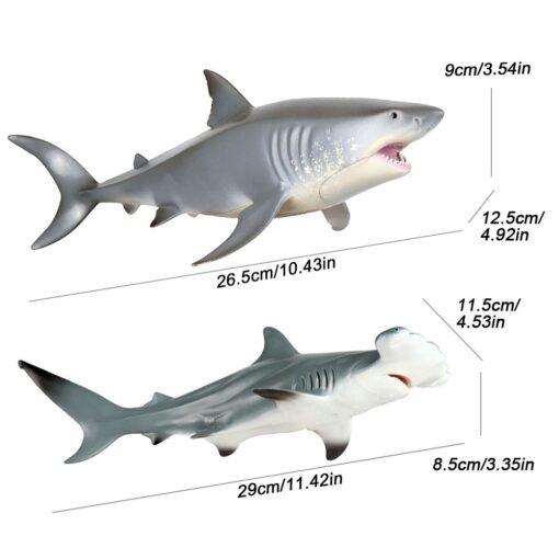 Lifelike Shark Toy Marine Life Animal Model Toy Giant Tooth Shark Blue Whale Animal Shark Model 5