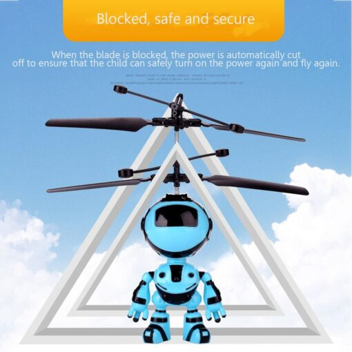 Light Suspension Robot Rechargeable Flying Vehicle Luminous Mini Fly Hand Flashing Induction Kids Aircraft Child Sensing 1