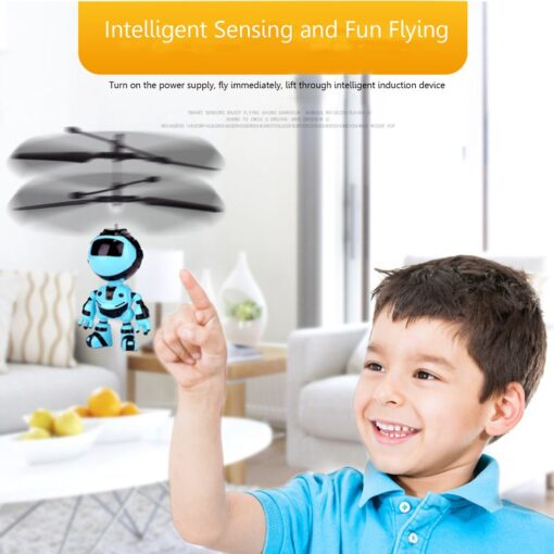 Light Suspension Robot Rechargeable Flying Vehicle Luminous Mini Fly Hand Flashing Induction Kids Aircraft Child Sensing 3