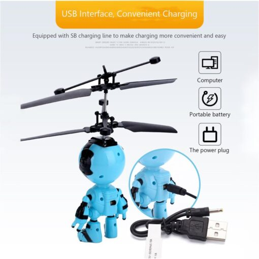 Light Suspension Robot Rechargeable Flying Vehicle Luminous Mini Fly Hand Flashing Induction Kids Aircraft Child Sensing 4